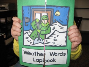 Weather Words Lapbook
